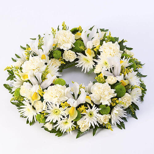 Classic Wreath Yellow and White