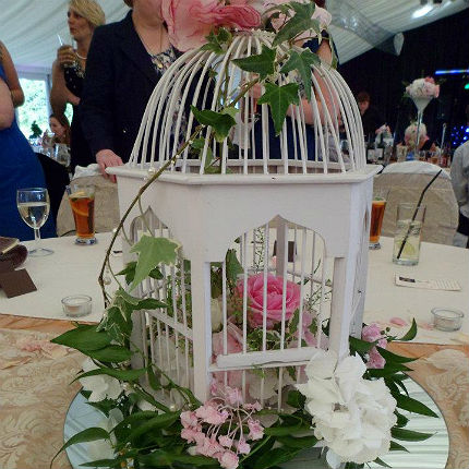 Bird cage table centre.