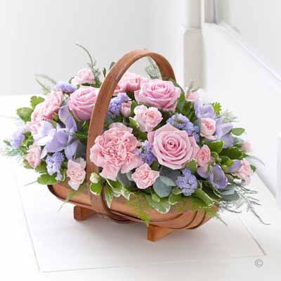 Pink & Lilac Basket
