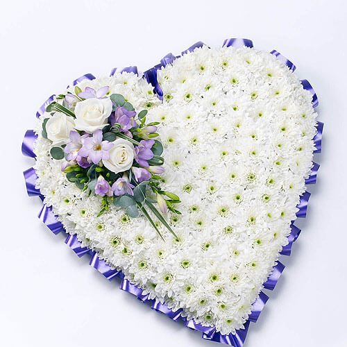 Classic Heart White & Lilac