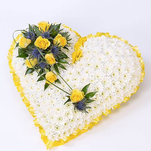 Classic Heart White and Yellow