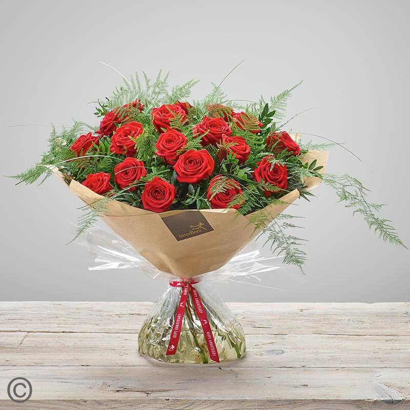 Rose Handtied - RED