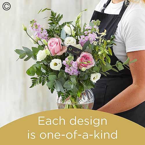 Pink Oriental Lily Vase